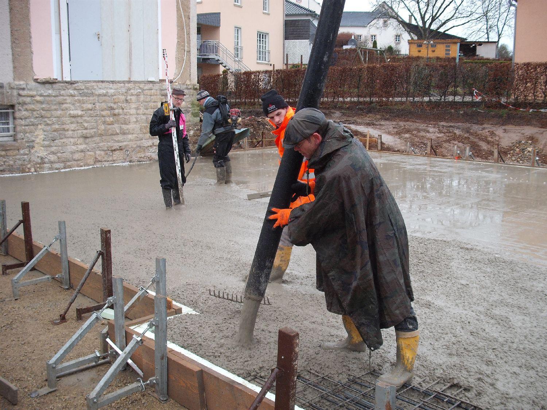 Bodenplatte Giessen Gemeindehaus Messerich